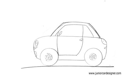 car drawing draw a cartoon car view junior car designer