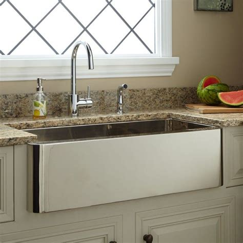 nickel plated copper sink 33 quot keely nickel plated copper farmhouse sink kitchen