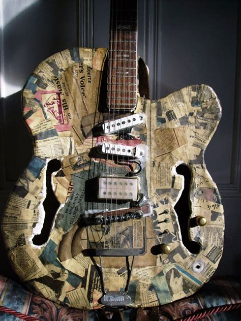How To Make A Paper Mache Guitar - let s explore paper mache sound boxes cigar box nation