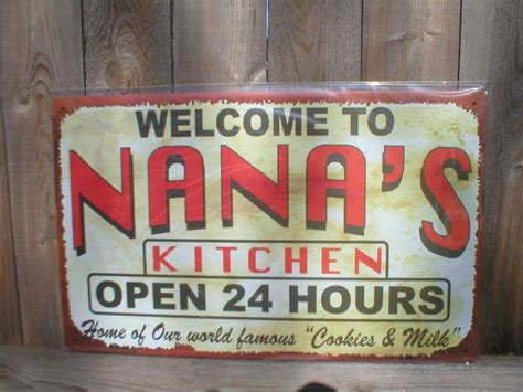 Metal Kitchen Signs by Nana S Kitchen Tin Sign Metal Retro Adv Ad Signs N