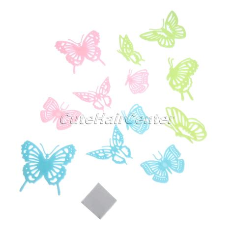 dagou 12 pcs 3d luminous buy wholesale glow in the butterfly from china
