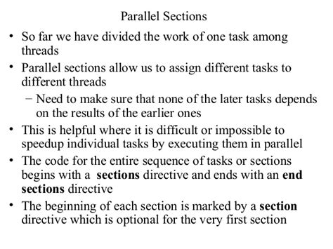 pragma omp parallel sections lecture8