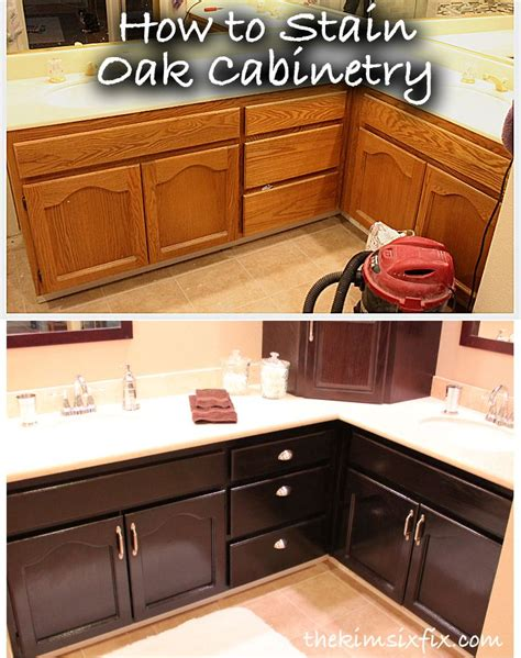 staining oak kitchen cabinets best 25 staining oak cabinets ideas on
