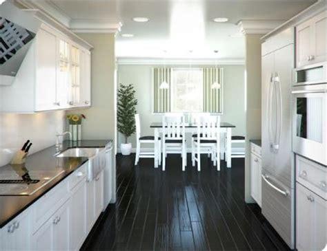 white galley kitchen ideas white galley kitchen designs with black flooring tile