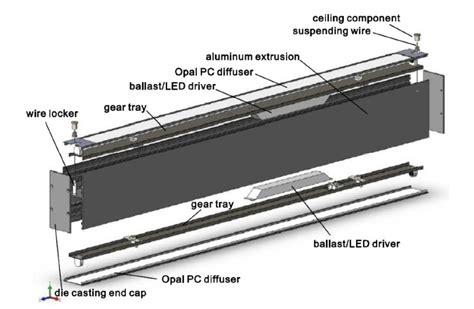 fluorescent light fixture parts interior design