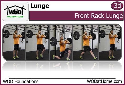 Front Rack Lunges by Wods Workout In 20 Minutes Or Less Wod At Home