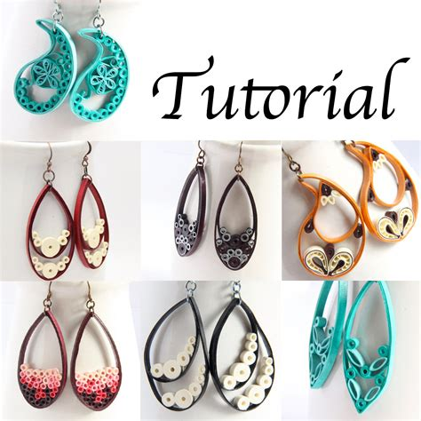 quilling tutorial for earrings tutorial for paper quilled jewelry pdf paisley and teardrop