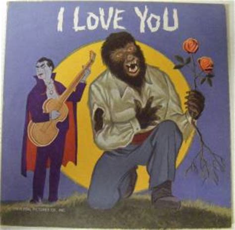 i you universal monsters dracula wolfman mel blanc card lp record unpunched ebay