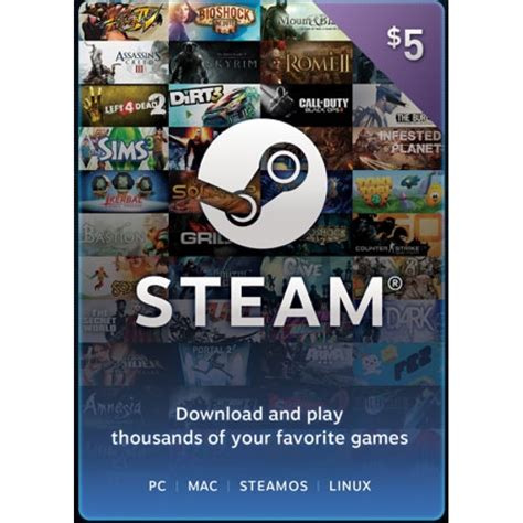 Steam Gift Card Digital Code - 5 steam gift card worldwide digital code