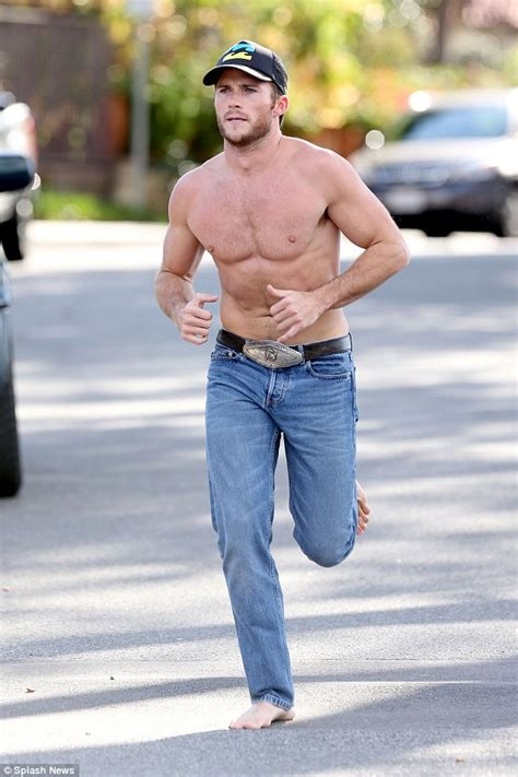 Clint eastwood s son scott shirtless for california run daily mail
