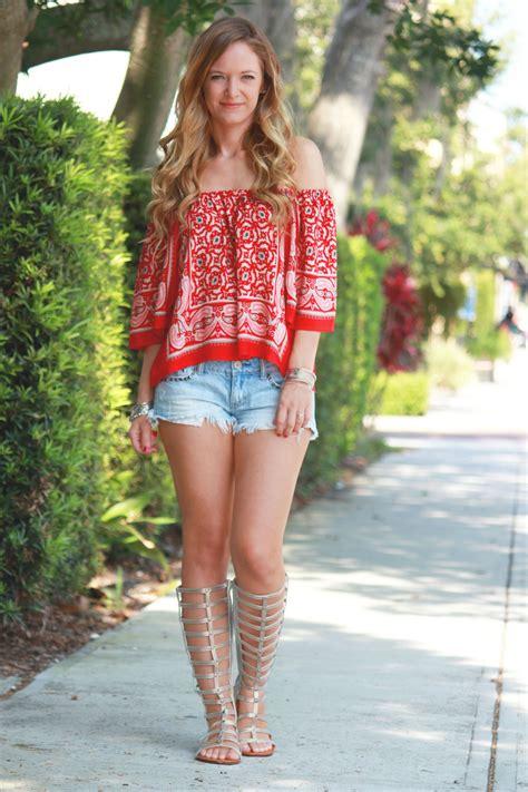 florida fashion for mature women red white boho upbeat soles orlando florida