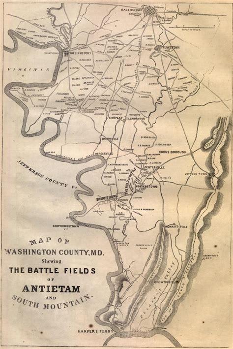 Battle Antietam Research Paper by Antietam Battle Map
