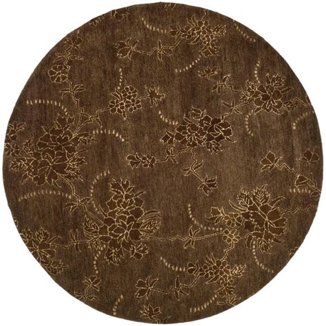 Safavieh Soho Brown 6 Ft X 6 Ft Round Area Rug Soh512a 6 Foot Area Rugs