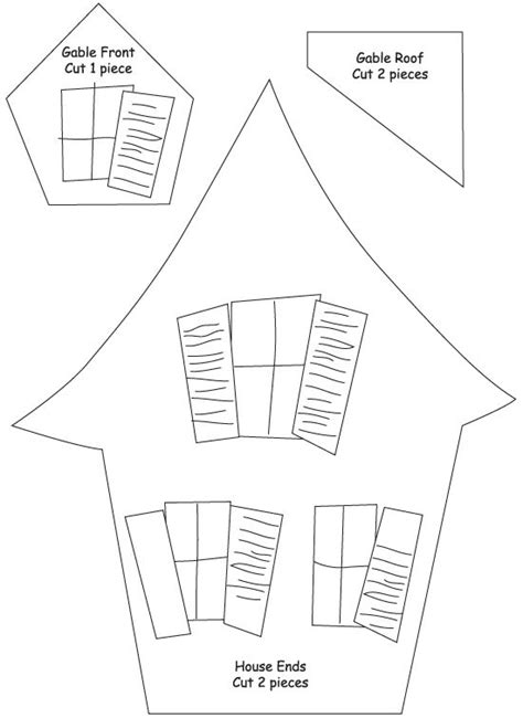 haunted house template printable assemble the small