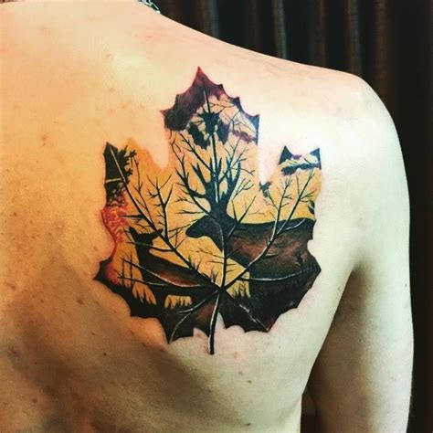 25 best ideas about maple leaf tattoos on pinterest