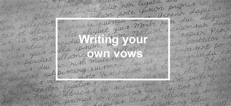 Writing Your Own Wedding Vows by Write Your Own Wedding Vows