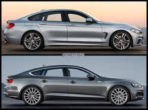 Audi Coupe A5 Photo Comparison Bmw 4 Series Gran Coupe Vs Audi A5 Sportback