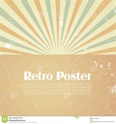 retro poster template retro poster playbill background template royalty free