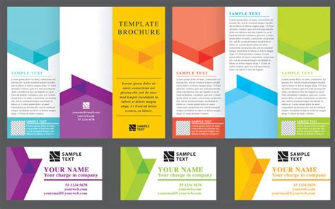 foldable brochure template tri fold brochure background