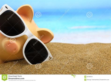 summer bank summer piggy bank stock photo image 38780604