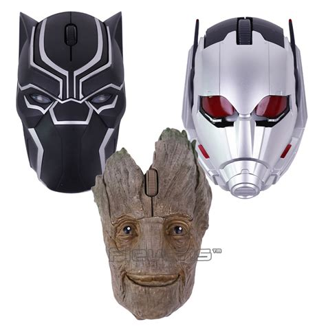 Black Panther / Ant Man / Guardians of the Galaxy Groot Wireless Mouse   Comicstoy