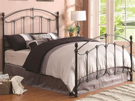 king size metal bed coaster 300395kw brown california king size metal bed