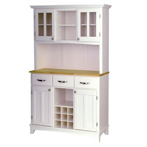 kitchen buffet and hutch furniture furniture wood top buffet server and 2 door hutch in white