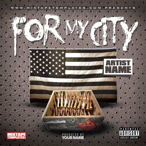 mixtape design templates for my city mixtape cover template by