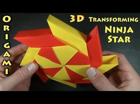 Origami Transforming Spiky - how to make a 16 point shuriken serial5 ru