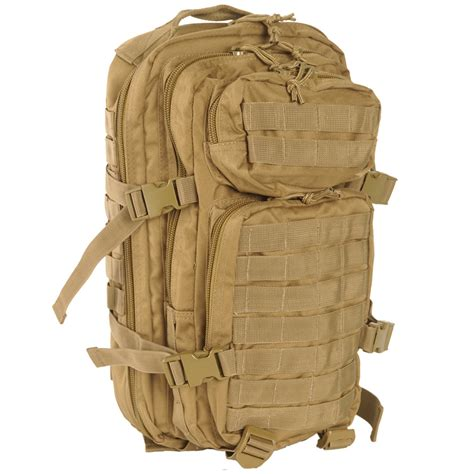 small molle pack mil tec molle us assault pack small coyote backpacks