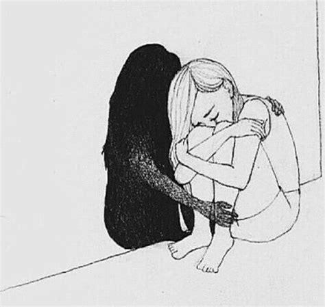 black, depression, friends, girl, grunge image #3834982