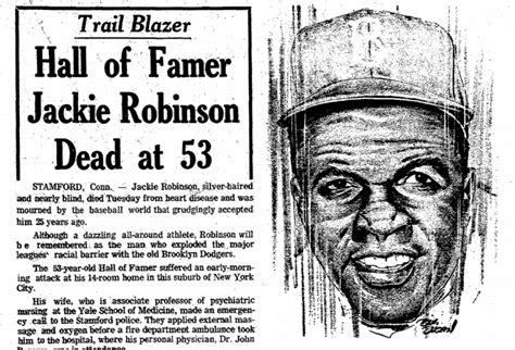 plain dealer obituary section image gallery jackie robinson death