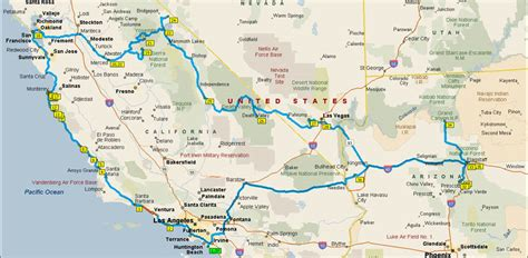 map a road trip california road trip map afputra