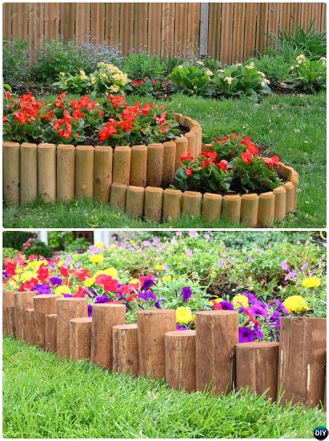 Garden Ideas With Wood Creative Garden Bed Edging Ideas Projects
