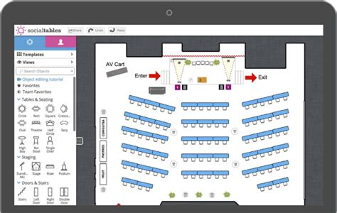 event space presentation software presenting a floor level custom drawings krueger event managements llc