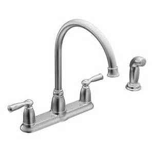 Moen Kitchen Faucet Repair Video by Banbury Chrome Two Handle High Arc Kitchen Faucet