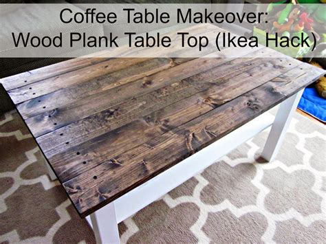 long story coffee table makeover wood plank table