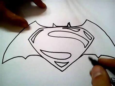 como dibujar el logo batman superman draw batman superman logo step step