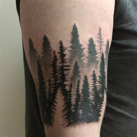 pine tree tattoo 75 simple and easy pine tree designs meanings