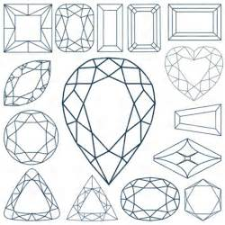 Gem Outline by Diamonds Faceting 4128 Silhouettes Outlines Royalty Free Vector Clip Eps