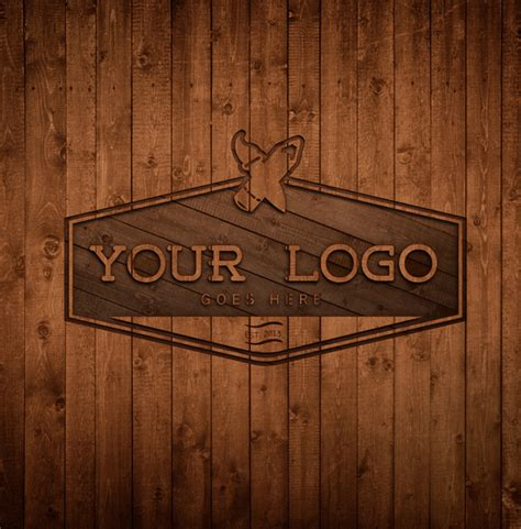 free wood logo mockup template psd free psd vector icons