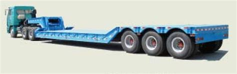low bed semi trailer china manufacturer special