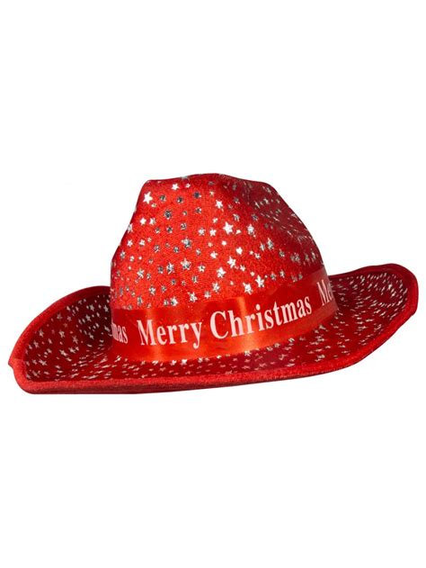 merry christmas cowboy hat 36cm santa hats suits stockings the christmas warehouse