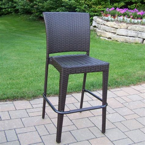 outdoor wicker bar stool oakland living 90054 bc cf elite resin wicker outdoor bar