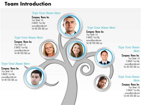 0514 Tree Structure For Team Introduction Team Introduction Ppt Template Free