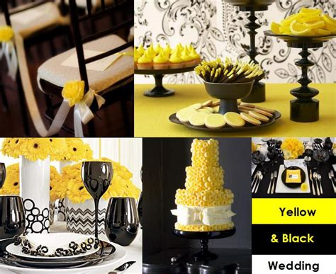 Yellow Black And White Wedding Decorations evoking elegance yellow black wedding inspirations