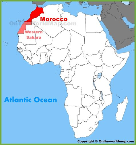 africa map morocco morocco location on the africa map