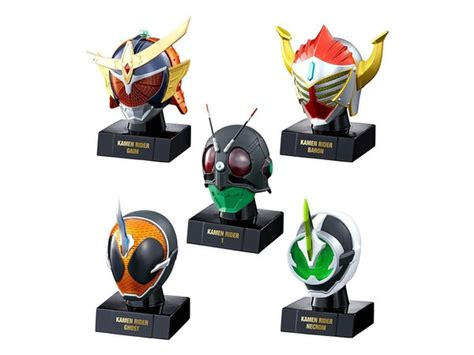 Rider Mask World 1 Kamen Rider 1 Go Kamen Rider Mask World 1 Box 10pcs By Bandai