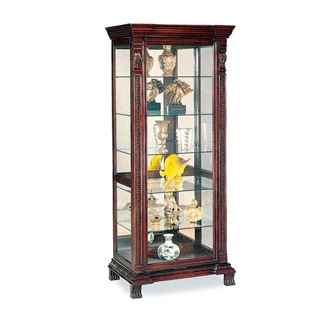 All Glass Curio Cabinet by Glass Corner Cabinets Cabinet Glass