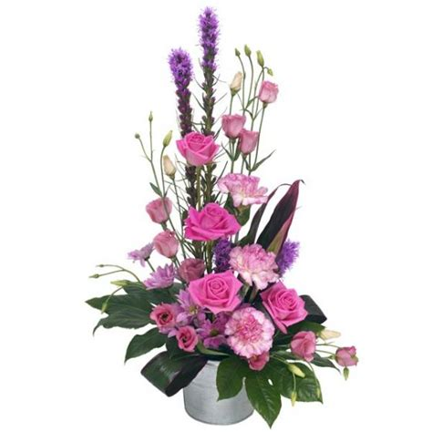 Best Mother Days Gifts by Pink Lady Modern Container Flower Arrangement Flower